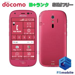 【 美品 SIMロック解除済み】 docomo F-04J 富士通 らくらくスマートフォン4 ピンク 判定○ 712871