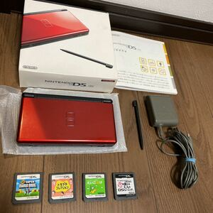 任天堂DS lite本体、付属品、ソフト4本セット