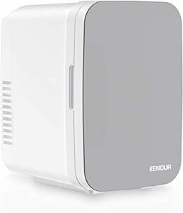 シルバー EENOUR 冷温庫 4L 小型 ポータブル冷蔵庫 保冷・保温用 ペルチェ式 省エネ 静音 AC/DC給電 僅か1.7