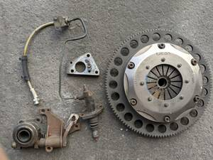 FD3S RX-7 TILTON twin plate clutch OS operation conversion kit counter weight attaching