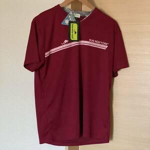 新品 タグ付き RUN NEW YORK メンズ 半袖 Tシャツ タグ付き 新品 Tシャツ Lサイズ 吸水速乾 DRY 接触冷感 送料込 ランニング