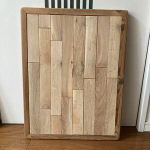 テーブルの天板 アウトドアテーブル 手作り オーク材
