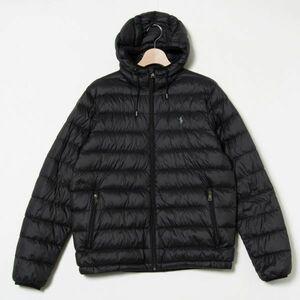 Polo Ralph Lauren ダウンジャケット ブラック 黒 M ナイロン フェザー アメカジ アウトドア 防寒 3h9d093
