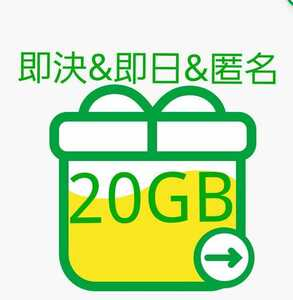 【即決&即日&匿名】約20GB mineo(マイネオ)パケットギフトコード 即日対応&匿名配送&送料無料