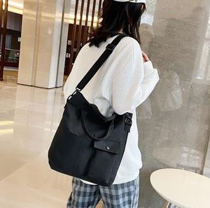 トートバッグ(ブラック) 帆布 キャンバス 鞄 バッグ レディース・メンズ
