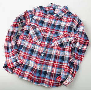 BEAMS BOY チェックネルシャツ USED