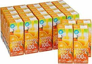 200ml×24本 [Amazonブランド]Happy Belly オレンジ ジュース 100% 200ml×24本