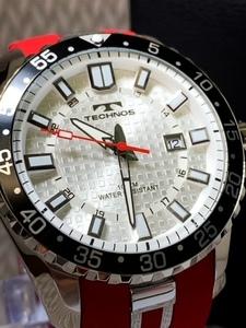 2021NEWモデル新品テクノスTECHNOS正規品腕時計スポーツラバー10気圧防水レッド【高級セームプレゼント送料無料】赤