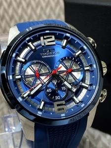 NEWモデル 新品 テクノス TECHNOS 正規品 腕時計 クロノグラフ ラバーベルト 国内正規保証 3Dフェイス 【セーム革付き送料無料】