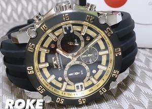 NEWモデル 新品 テクノス TECHNOS 腕時計 クロノグラフ カーボン文字盤 ラバーベルト ゴールド 国内正規保証送料無料 セーム革付