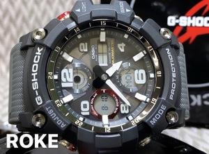 新品 MUDMASTER(マッドマスター)G-SHOCK Gショック ジーショック カシオ CASIO 正規品 タフソーラー腕時計 アナデジ ソーラー腕時計 黒