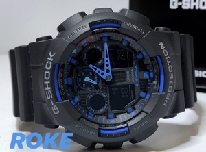 セーム革セット新品 G-SHOCK Gショック ジーショック カシオ CASIO 正規品 腕時計 デジタル腕時計 多機能腕時計 ブラック×ブルー メンズ