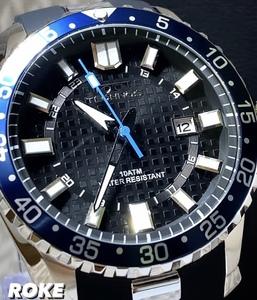 2021NEWモデル 新品 テクノス TECHNOS 正規品 腕時計 メンズ スポーツ ラバーベルト ビックフェイス 10気圧防水 カレンダー メンズ