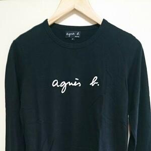 agnes b. アニエスベー 長袖Tシャツ ロンT 長袖カットソー ロゴTシャツ