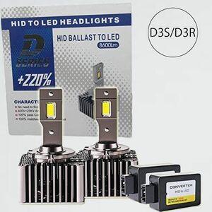 新品 未使用 Ideas Auto V-R4 キャンセラ-内蔵 光軸調整可 D3S D3R LEDヘッドライト バルブ 35W 6000K 8600Lm 車検対応 純正HID交換