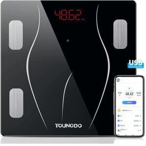 体重計 体組成計 充電式 Bluetooth体重計 乗るだけON 23種類測定可能 体脂肪計