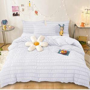 Cozyone 布団カバー 3点セット シングル シーツ 寝具セット シングル 3点セット , ホワイト