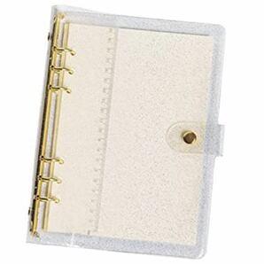 システム手帳 セット ブリンブリン カバー A5バインダー 6穴 空白リフィル(1册)付き 透明 綺麗な (A5)