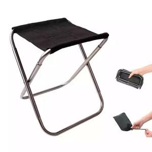■折り畳み式チェア スツール 椅子 格納式 アルミニウム 屋外 キャンプ 旅行
