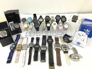 (04y2377)【1円~】ジャンク腕時計 30点セット[G-SHOCK/BABY-G/DIESEL/Calvin Klein/他] 大量まとめ売り/一部箱あり ジャンク品