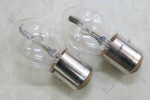 ベスパ ヘッドライト バルブ 電球 VESPA 50S 100 125ET3 ホワイト 2個セット 6V35/35W