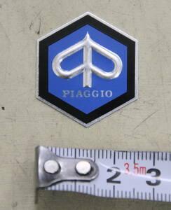 ベスパ エンブレム トップマーク 六角マーク VESPA 50S 100 125ET3 ピアジオ PIAGGIO 新品 ロゴ ピアジオマーク ブルー