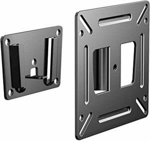 Black TETVIK テレビ 壁掛け金具14~24インチ液晶テレビ・PCモニター用 薄型固定式ビス付き 対応VESA規格10