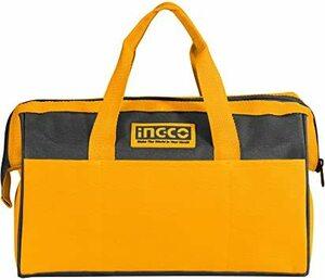 工具バッグ INGCO 工具バッグ 防水 ツールバッグ 工具入れ 多機能工具袋 大容量 ツールケース ペグケース 黄・黒 HTB