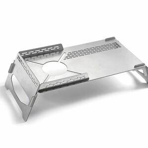遮熱テーブル シングルバーナー ステンレス コンパクト アウトドア キャンプ  soto クッカースタンド 折りたたみ式