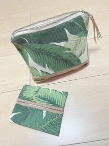 ハワイアン ヤシの木 ポーチ&ティッシュケース