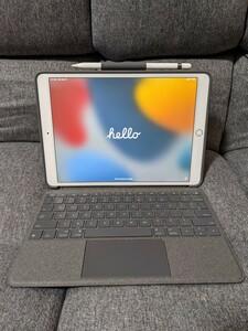 iPad Pro 10.5 64GB SIMフリー/純正レザーカバー/logicoolキーボードケース/Apple Pencil付
