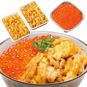 ウニ イクラ 丼 セット うに いくら醤油け 200g 計4人前 二色丼 海鮮 北国からの贈り物