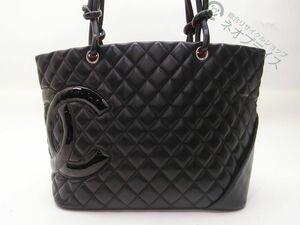 ◆S8376 CHANEL シャネル マトラッセ デカココマーク カンボン ラージ トート バッグ 美品