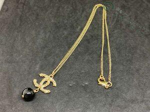 ◆Y4491 CHANEL シャネル ココマーク カラーストーン チェーン ネックレス 美品