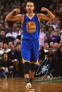 ○ステフィン・カリー 直筆サインフォト/写真 NBA ウォリアーズ Stephen Curry