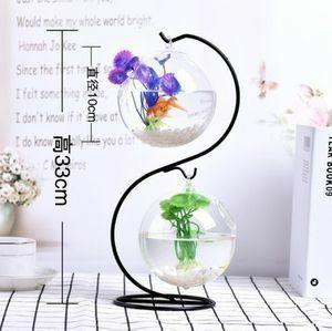 1円スタート!おしゃれな水槽☆ボールガラス 卓上 小型 金魚 めだか ベタ 吊り下げ アクアリウム おしゃれ インテリア 花 植物 リビング
