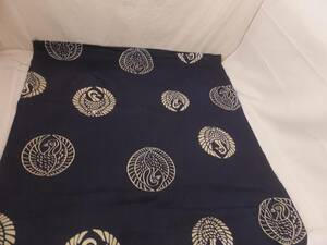 古布651 丸紋 鶴 木綿