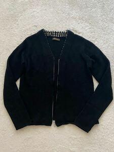 Y`s for men size3 ジップアップカーディガン ブラック 黒 ノーカラージャケット ワイズフォーメン ヨウジヤマモトプールオム メンズ