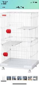 美品 猫 犬 小動物ゲージ. アイリスオーヤマ(Iris Ohyama) 2段 白色 猫 高115×幅69×奥54.5cm
