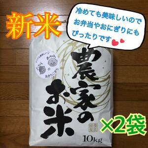 令和3年 秋田県産 新米あきたこまち 10kg×2袋 1等米