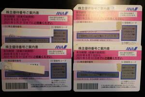 ANA株主優待券(50%割引券) 4枚 送料(普通郵便)込 (使用期間延長 21年11月30日まで)