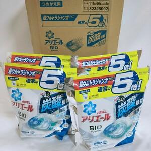 【送料無料】アリエール ジェルボール4D 洗濯洗剤 清潔で爽やかな香り 詰め替え 60個入 4袋セット