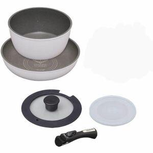 アイリスオーヤマ 5点セット フライパン ダイヤモンドコートパン アイリスオーヤマ IH対応 鍋 取手の取れる ガス対応 ホワイト