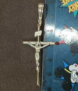 【本物】K18 18金 18k YG イエローゴールド クロスペンダントトップ 2Lサイズ《十字架モチーフ》キリスト像