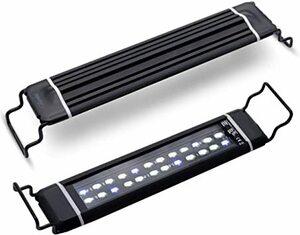 青白 30cm Varmhus 水槽 ライト 30cm ~ 45cm の水槽に対応 2色LED 超薄い 熱帯魚 観賞魚飼育 水草