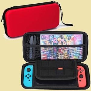 ラスト1点 新品 Switch Nintendo C-L4 [video game] 専用 ケ-ス 【02.レッド】 大容量 収納 バッグ EVA素材 セミハ-ド 耐衝撃