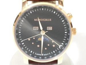 MONOGRIIS モノグリース ムーンフェイズ 腕時計 店舗受取可