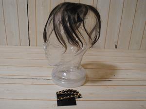 ギンカウィンカ●ドレスドヘアー 人毛100% 植毛仕上げ 幅広いヘアスタイル バング付/全長23cm/インナーグラデ/1円スタート/ZS