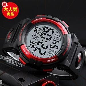 新品Timever(タイムエバー)デジタル腕時計 メンズ 防水腕時計 led watch スポーツウォッチ アラームFU3D