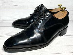 【即決】REGAL メンズ 24.5cm ストレートチップ ビジネスシューズ 革靴 リーガル 黒 ブラック 本革 ビジネスシューズ くつ